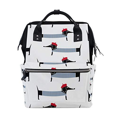 Rucksack Tasche Dackel Rucksack für Frauen Mom Verstellbarer Riemen Outdoor Casual Daypack