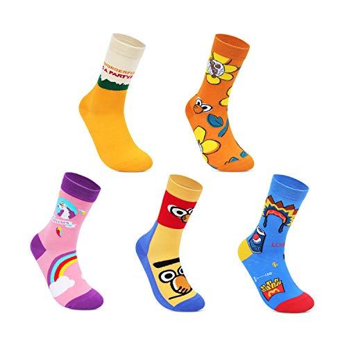Conysan Unisex Sneaker Sokken Luipaard tijger dierpatroon mode Crew sokken voor dames,5 paar