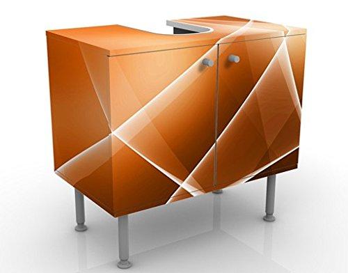 Meuble sous Vasque Design Orange Sound 60x55x35cm, Petit, 60 cm de Large, réglable, Table de lavabo, Armoire de lavabo, lavabo, Meuble Bas, Baignoire, Salle de Bains, Armoire de Salle Bains