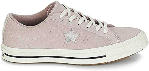 Converse Unisex-Erwachsene Cons One Star Precious Metal OX Sneakers, Mehrfarbig (Diffused Taupe/Silver/Egret 055), 40 EU