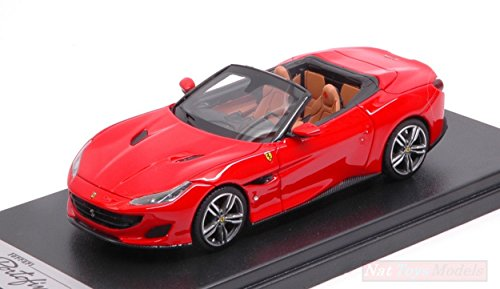 LOOKSMART LS480SF Ferrari Portofino Open Roof Rosso Scuderia 1:43 Die Cast Model Compatibile con