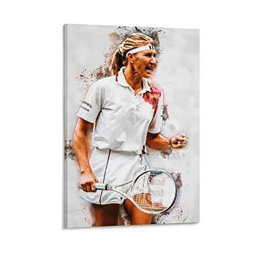 WSXDD Steffi Graf Poster Tennis Bild Leinwand Wanddekoration Kunst Gemälde Druck für Büros Wohnzimmer Schlafsäle Zuhause – Geschenk für Freund Mann 60 x 90 cm