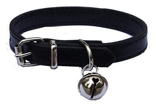 Haustier-Halsband, Leder, für Katzen, Welpen, Hunde, von 20,3cm -26,7 cm verstellbar