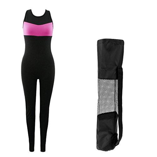 MagiDeal 1 Stück Damen Jumpsuit für Joggen,Sport,Yoga inklusive 1 Stück Tragetasche