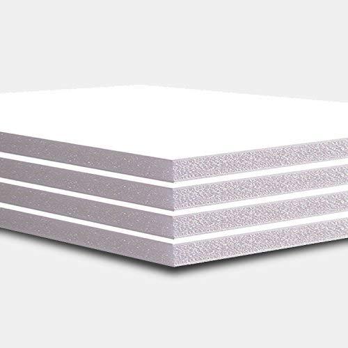 Tablero de espuma de 5 mm, color blanco, 10 hojas, A4, A3, A2 y A1 A4 blanco