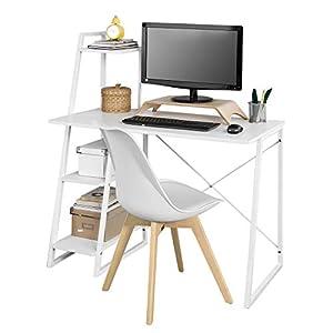 SoBuy® Estantería de Pared Escalera de bambú estantería de ...