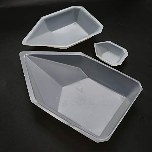 Buorsa Set of 3 Sizes Plastic Pour Boats Weighing Dish (Large,Medium,Small)
