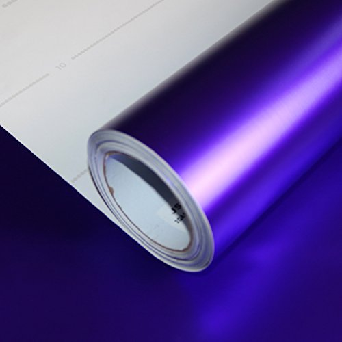 Allvi Car Wrapping Film Folie Satin Chrom Purple Rain | FlexChrome | Auto Folie Lila
