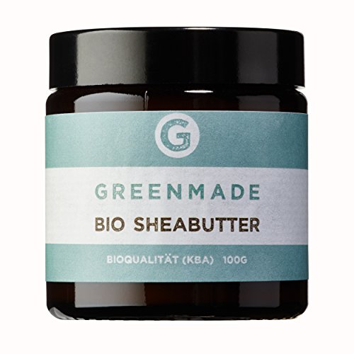 Bio Sheabutter 100g - 100{1303f1b5b5616e697112f911f4142672fea827535609651152d2d28850007c5e} rein - aus kontrolliert biologischem Anbau von greenmade