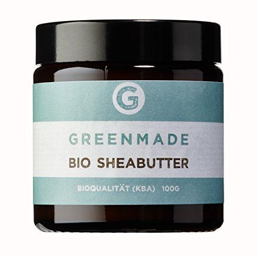 Beurre de karité biologique 100 g - 100 % pur - Issu de l'agriculture biologique contrôlée Greenmade