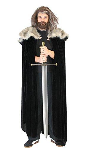 Costume Agent - Capa de pieles de Ned Stark de la serie Juego de Tronos, para disfraz