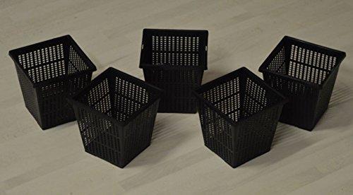 Teich PE Pflanzkorb schwarz 11 x 11 cm Pflanzhilfe Teichpflanzen (5)