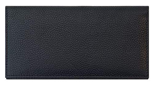 Black Basic Leather Checkbook Cover