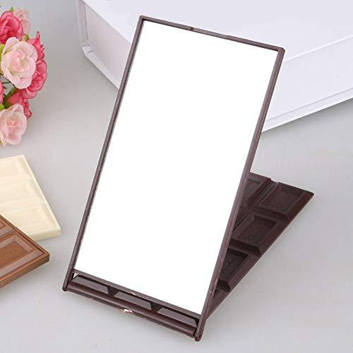 Bmstjk 12 Slot Schokolade Kosmetikspiegel, niedliche tragbare kompakte Faltbare Spiegel, für Familien Schlafsaal Travel15.6X8.2Cm