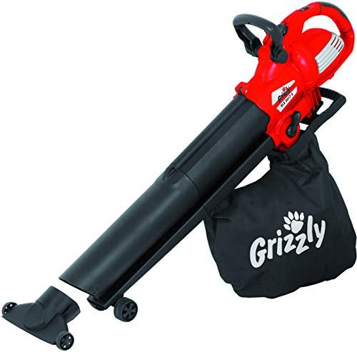 Grizzly Elektro Laubsauger/Laubbläser/Häcksler ELS 3017 E / 3000 Watt Motor / 45 l Fangsack/Metall-Häckselmesser/Tragegurt/Zusatzgriff/fahrbare Flächen-Saugdüse