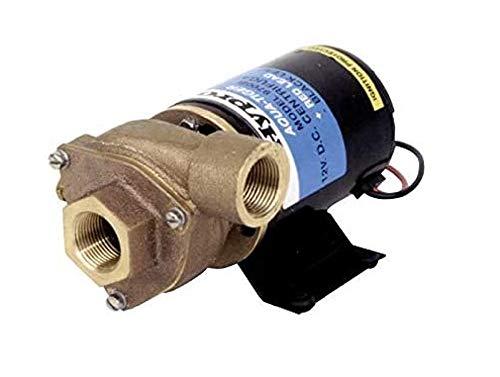 "Hypro 9700B Aqua-Tiger 12VDC Centrifugal Pump, 19GPM, 7PSI, Lip-type Viton Seal, 3/4"" NPT Inlet, 3/4"" NPT Outlet, Bronze Impeller"