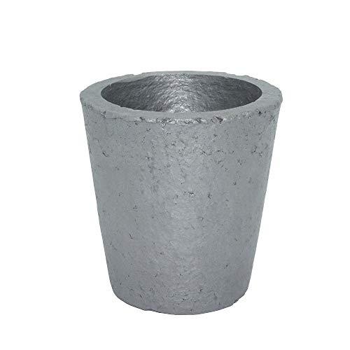 Axwadf Crisoles de Grafito de carburo de silicio, fundición de fusión Refinación de chatarra de Metal Plateado para 4kg de Cobre o Aluminio de 1.2kg (4#)