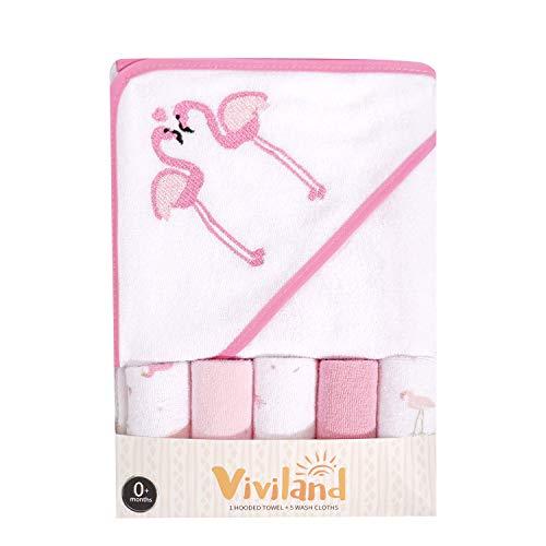 Toalla toallitas baño capucha Viviland Baby, gran