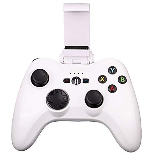 THDFV Der zertifizierte Gamepad-Controller für iOS7 und höher,Bluetooth-Spielgriff,ist kompatibel mit Fußball-/Basketball/Abenteuer/Renn-/Rollenspiel-/Kampf-/Schießspielen und Mobilgeräten-White