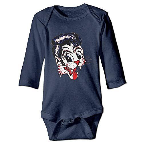 SDGSS Ropa para bebés Bodysuits American Rockabilly Band Stray Cats Baby Onesie Bodysuits