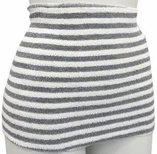 Binchotan Haramaki Body Warmer Belt Japan Bico Charcoal Stripes Light Grey White