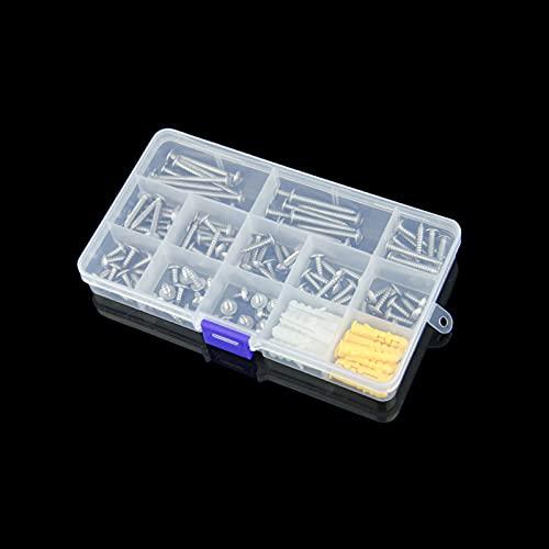 tornillos,Tornillos Autorroscantes,tornillos acero inoxidable,110 piezas de tornillos autorroscantes M4 con caja de plástico para proyectos de bricolaje en el hogar-8/10/12/14/16/18/20/25/30/35/40 mm