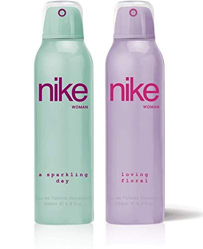 Nike Woman Deodorant (A Sparkling/Loving Floral)- Pack Of 2 (200ml Each)
