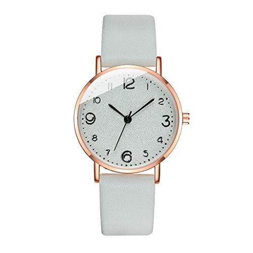 Fenverk Damen-Armbanduhr Analog Quarz Leder,Berlin Damen Analog Quarz Uhr mit Lederarmband,Damen-Armbanduhr Jacqueline Blush Leder(F)