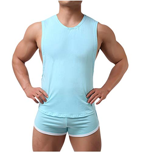 Herren Tank Top Sporthose Set Sportanzug Trainingsanzug Sommer Kurze Hose T-Shirts Trainingshose Licht Atmungsaktiv Sport Anzug, Teenager Männer Fitness Gym Yoga Jogging Shorts Tops Pyjama