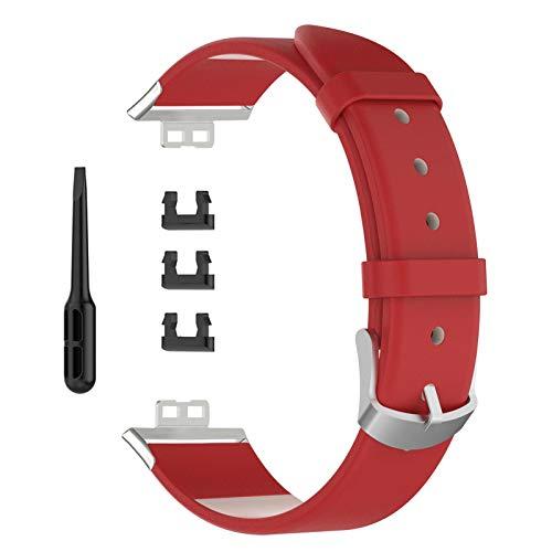 sakulala Reemplazo de Cuero Reloj Correa de la Correa de Pulsera de Deportes Compatible para Huawei Reloj Inteligente Reloj FIT reemplazo de la Correa de Cuero