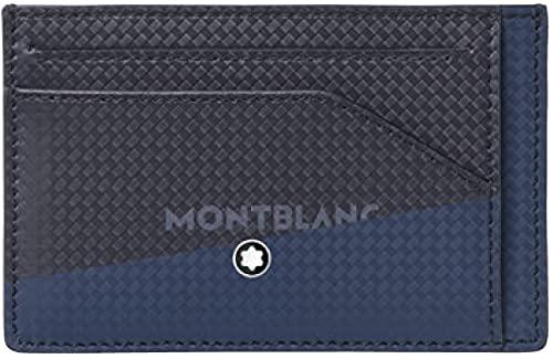 Montblanc MB Extreme 2.0 Pocket 6cc wPrint Cartera, Hombres, BK Bl (Multicolor), Talla Única