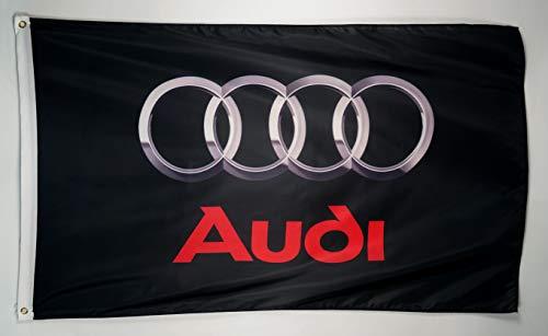 N CENTS Polyester-Flagge für Audi Logo, 3 x 1,5 m, mit Messingösen