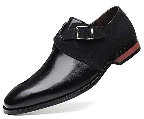 DADAWEN - Zapatos de boda para hombre, mocasín, color Negro, talla 44...