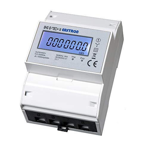 SDM72D - digitaler Drehstromzähler, direktmessend 10(80) A mit S0 und LCD - Stromzähler für Hutschienenmontage