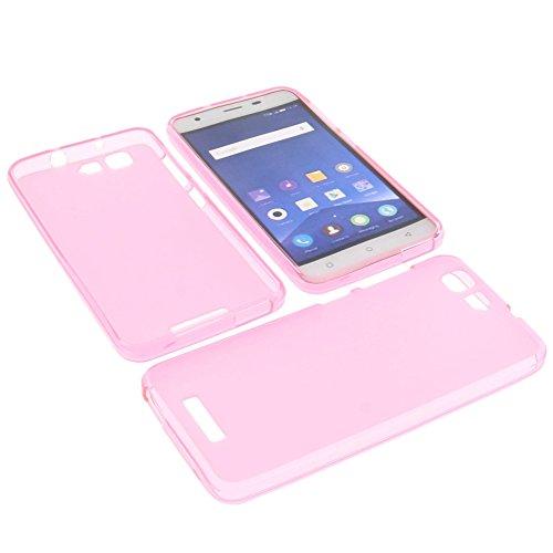foto-kontor Tasche für Mobistel Cynus F9 Gummi TPU Schutz Hülle Handytasche pink
