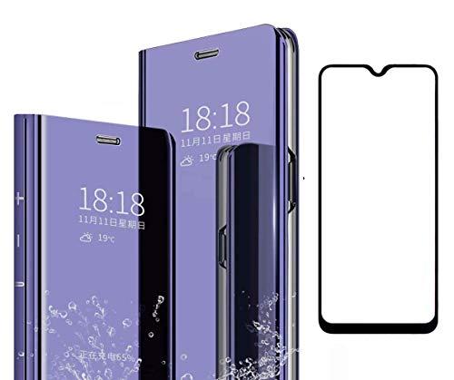 Homi2019 Spiegel Hülle für Vivo V11 Pro Clear View Standing Cover,Spiegel Handyhülle Schutzhülle Flip Hülle Cover Schutz Tasche (Gratis Geschenk Bildschirmschutz Handy-Folie)