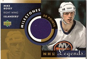 01-02 UD NHL Legends Milestones MIKE BOSSY Jersey
