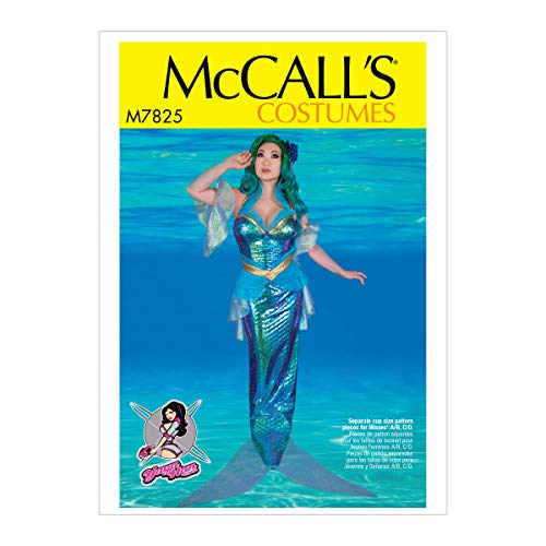 McCall's Patterns MCC 7825 M7825 A5 Misses' Mermaid Costume by Yaya Han, Size 6-8-10-12-14