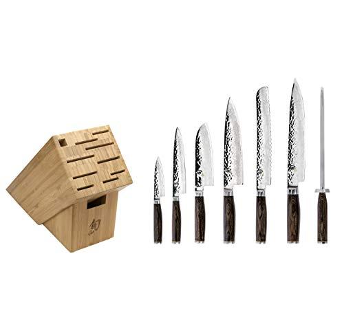 Shun Premier Knife Block, 8 Piece Cutlery Set, TDMS0808, Brown