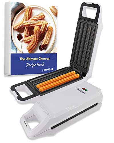 Churro Maker by StarBlue with FREE Recipe e-Book - Cook Healthy and Oil-free Churros in just minutes AC 110-120V 50/60Hz 760W