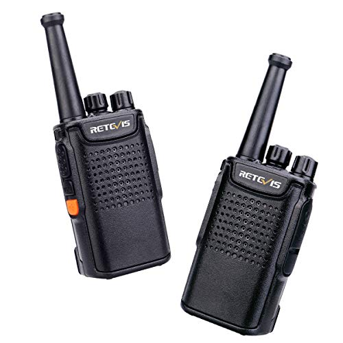 Retevis RT667 Walkie Talkie Recargable, 3000mAh Li-Ion Batería, Linterna LED, VOX CTCSS/DCS, PMR446 Sin Licencia 16 Canales, Walkie-Talkie Profesionales para Senderismo, Esquiar(Negro, 1 Paire)
