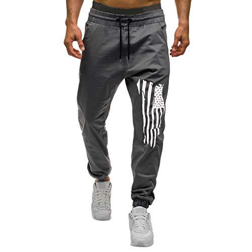 Sylar Pantalones Hombre Casuales Deporte Pantalones Largos para Hombre Pantalones De Trabajo para Hombre Pantalones De Estampado con Cordón Ajustable Hombre Casual Pantalón Pantalones Chandal Hombre
