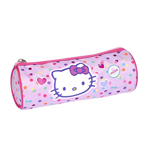 Hello kitty - Trousse Fourre Tout Rond Rose - So Cute