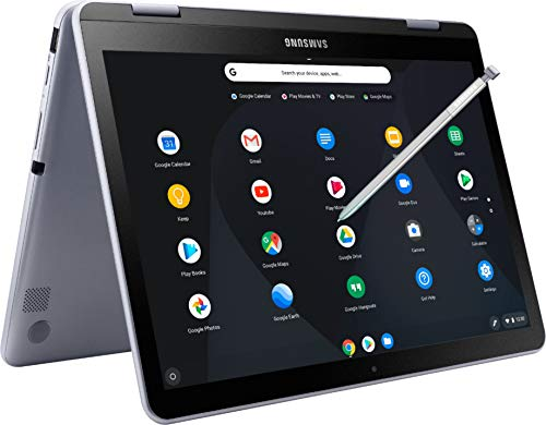 Samsung 12.2'' 2-in-1 Chromebook Touchscreen FHD (1920x1200) Laptop/Tablet, Intel Celeron 3965Y Processor, 4GB RAM, 64GB Memory, WiFi, Bluetooth, Webcam, Google Chrome OS w/ Digital Pen & Pouch