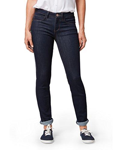 TOM TAILOR Damen Jeanshosen Alexa Slim Jeans Rinsed Blue Denim,25/32