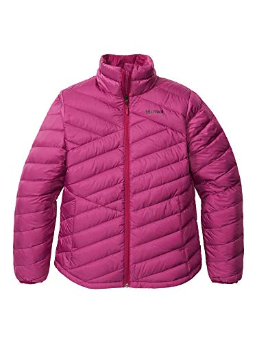 Marmot Damen Ultra-leichte Daunenjacke, 700 Fill-Power, Warme Outdoorjacke, Wasserabweisend, Winddicht Wm's Highlander Jacket, Wild Rose, L, 79370