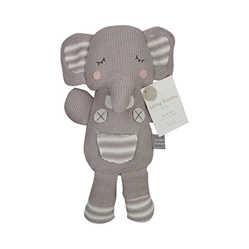Living Textiles Grey Theodore Elephant Plush (Knit)
