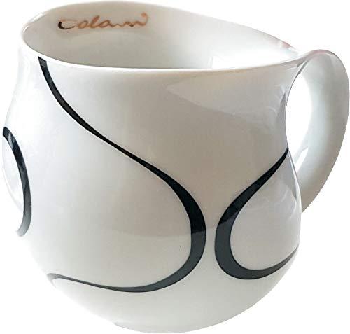 "Luigi Colani dekorierte Kaffeetasse Becher Tasse Cappuccinotasse Kaffeebecher ""Gold&Color"" Loop schwarz/Black 280 ml"