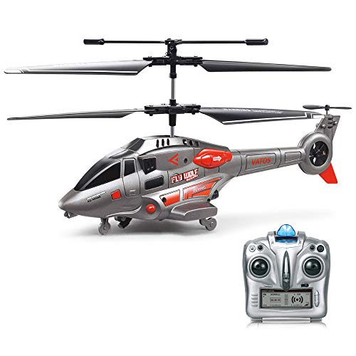 VATOS RC Helicopter, Helicopter with Gyroscope Remote Control Helicopter with Gyroscope Military Series Helicopter for Children and Adults Indoor Outdoor Gift for Boys Girls