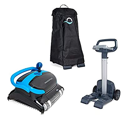 DOLPHIN Nautilus CC Plus Robotic Pool Vacuum Cleaner with Universal Caddy and Classic Caddy Cover, Ideal for In-Ground Swimming Pools up to 50 Feet…